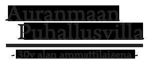 Auranmaan Puhallusvilla Logo